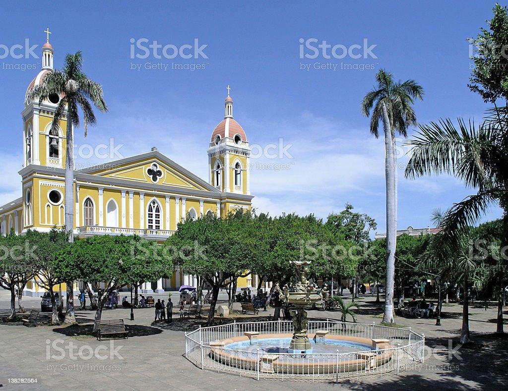 granada square nicaragua stock photo
