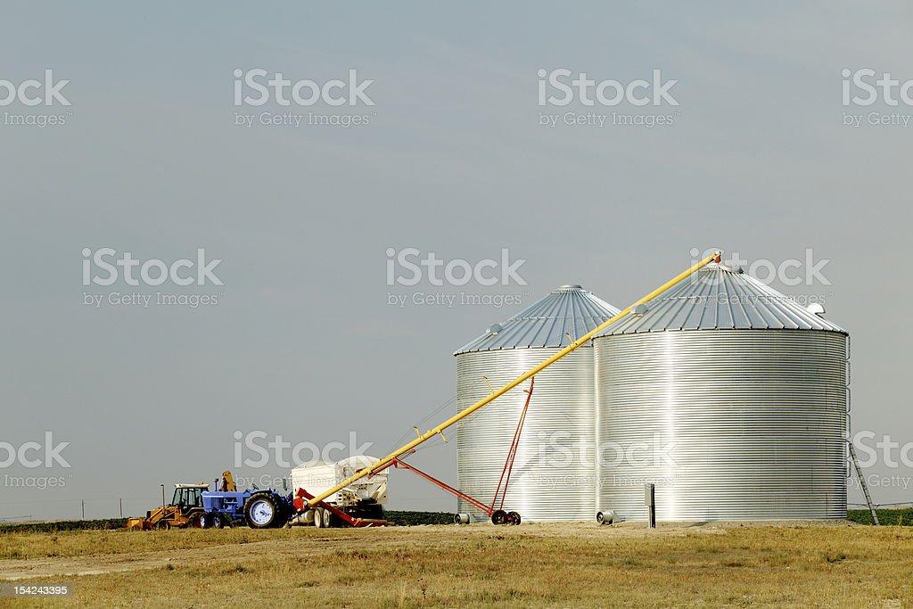 Granaries stock photo