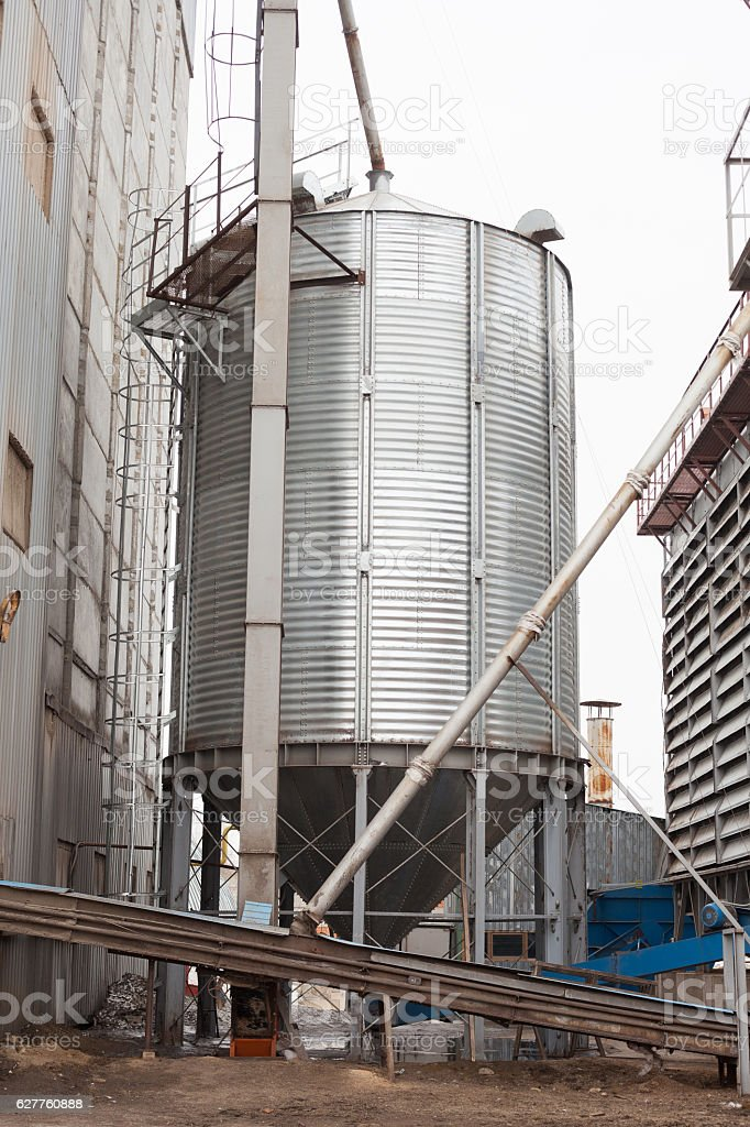 granary on a farm on cultivation of chicken stock photo
