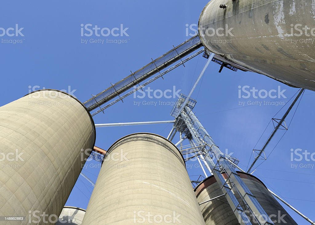 Granary Silos and Elevator stock photo