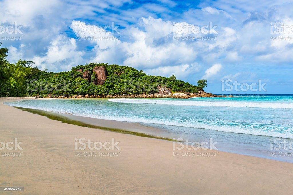 Grand Anse, Mahe island, the Seychelles royalty-free stock photo
