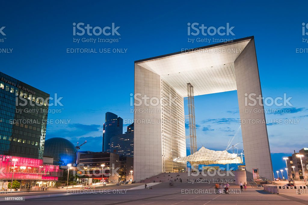 Grand Arche, La Defense, Paris stock photo