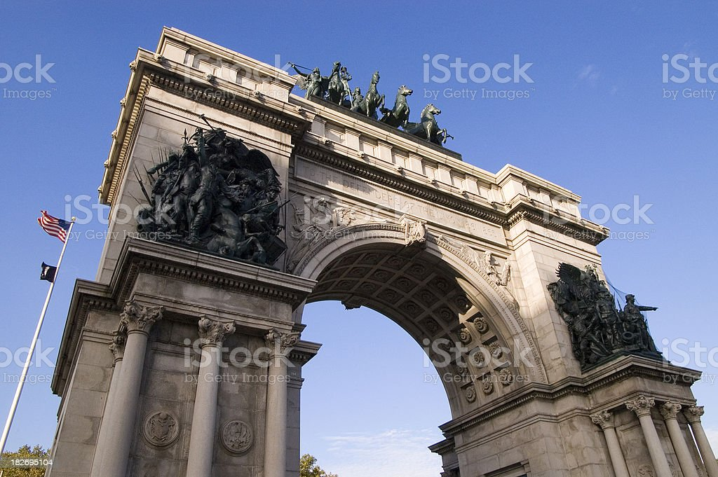 Grand Army Plaza Arch royalty-free stock photo