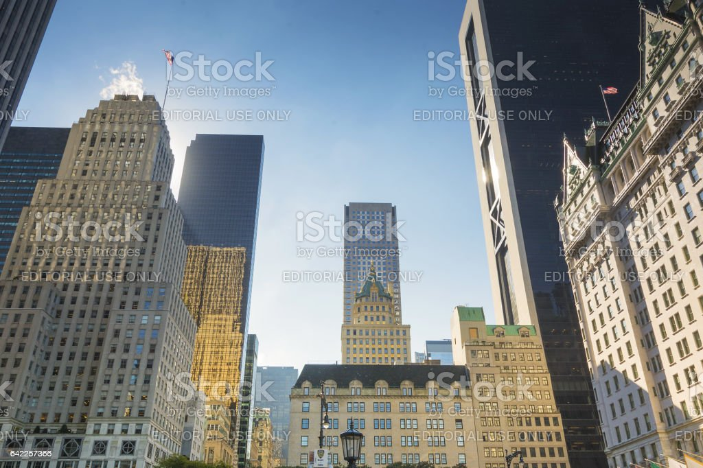 Grand Army Plaza in New York stock photo