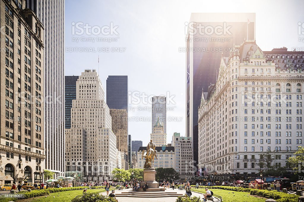 Grand Army Plaza With Sherman Monument In New York City stock photo