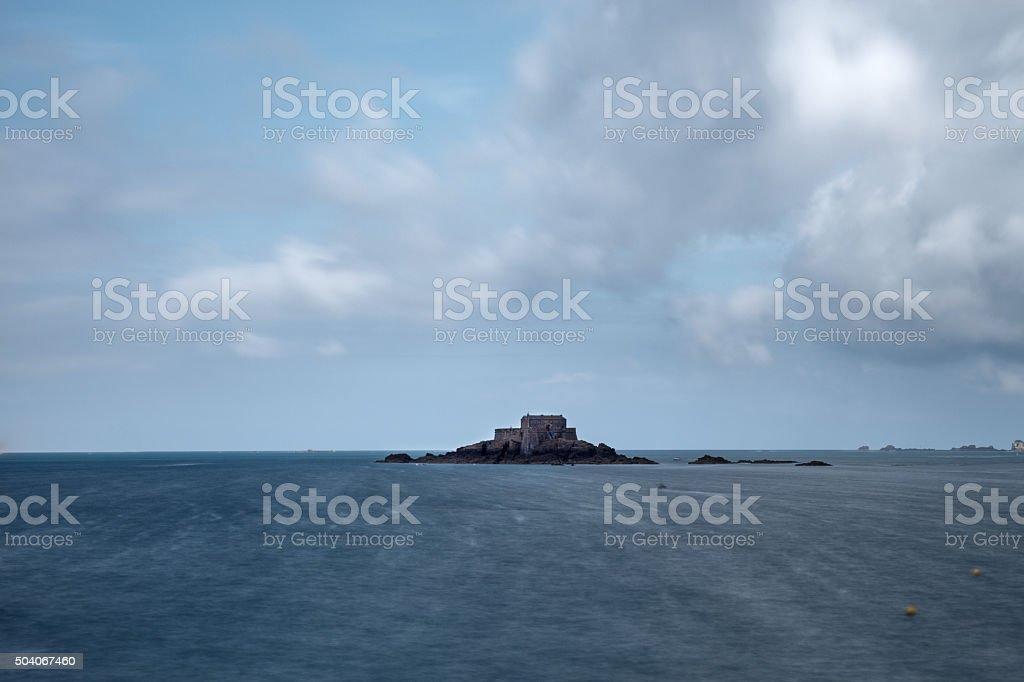 Grand Bé, Saint-Malo, France stock photo