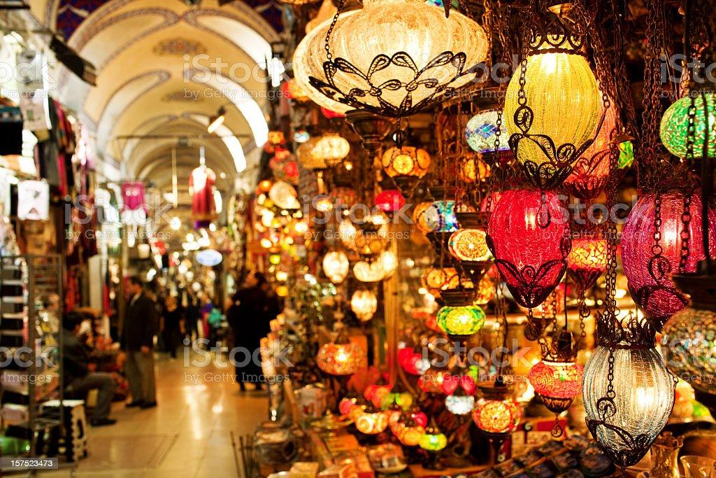 Grand Bazaar in Istanbul stock photo