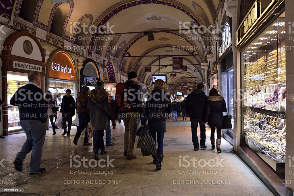 Grand Bazaar Istanbul stock photo