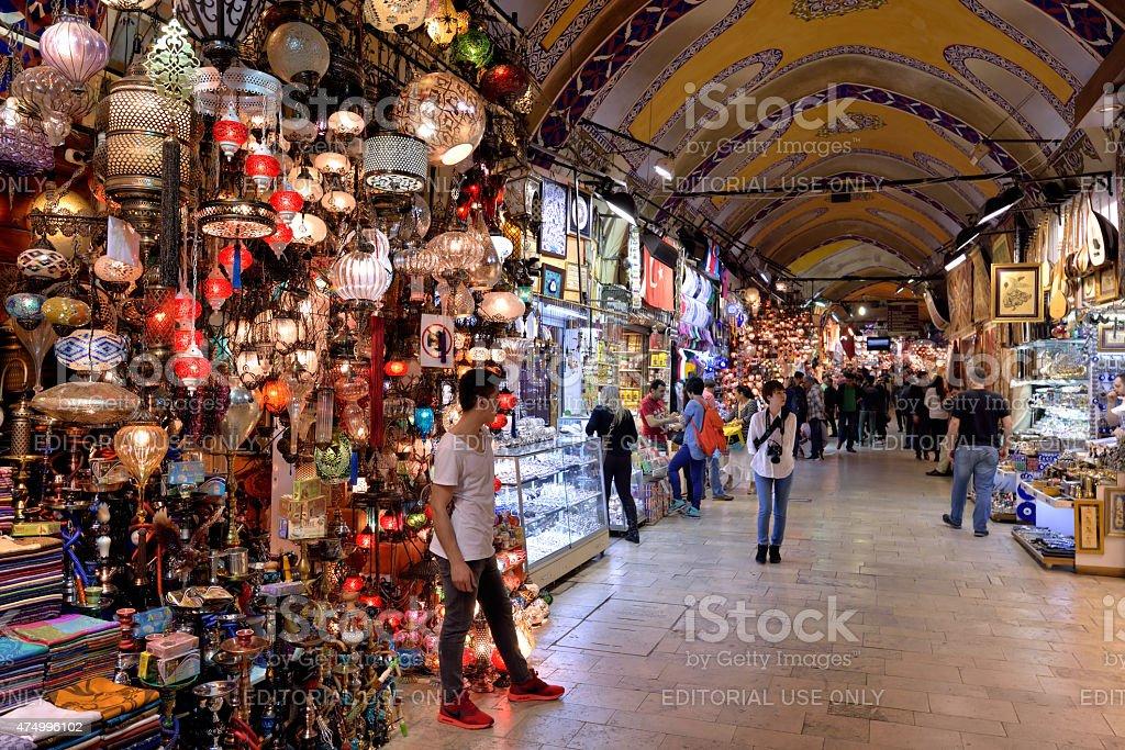 Grand Bazaar, Istanbul, Turkey. stock photo