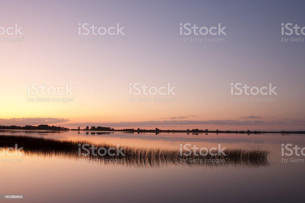 Grand beach Manitoba Lagoon royalty-free stock photo