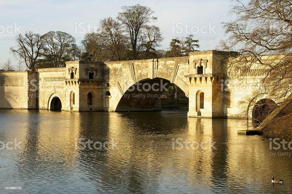 Grand Bridge, Blenheim Palace stock photo