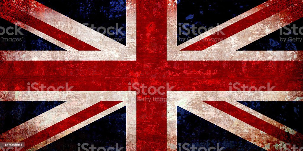 Grand britain, united kingdom flag stock photo