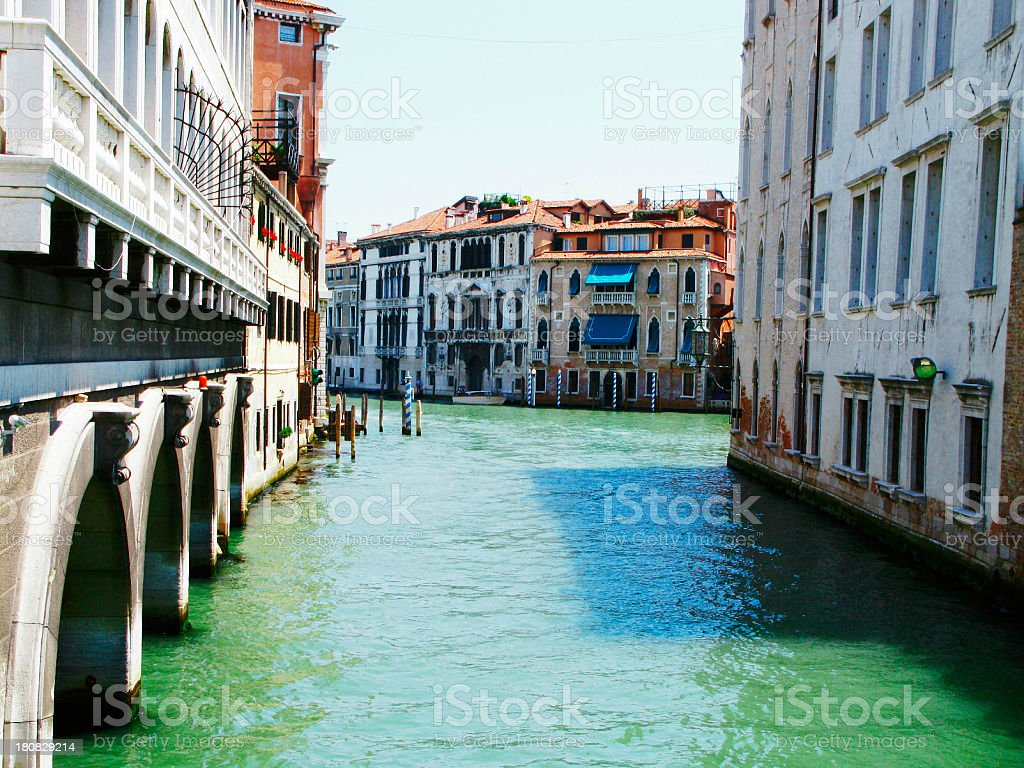 Grand Canal Ahead stock photo