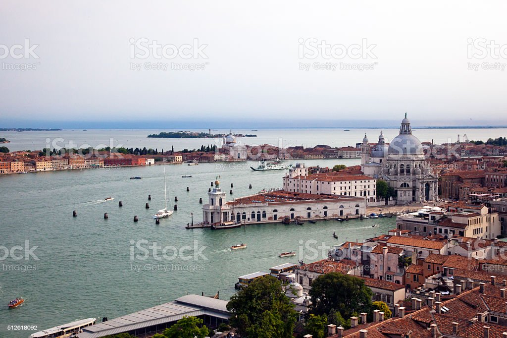 Grand Canal and Basilica stock photo