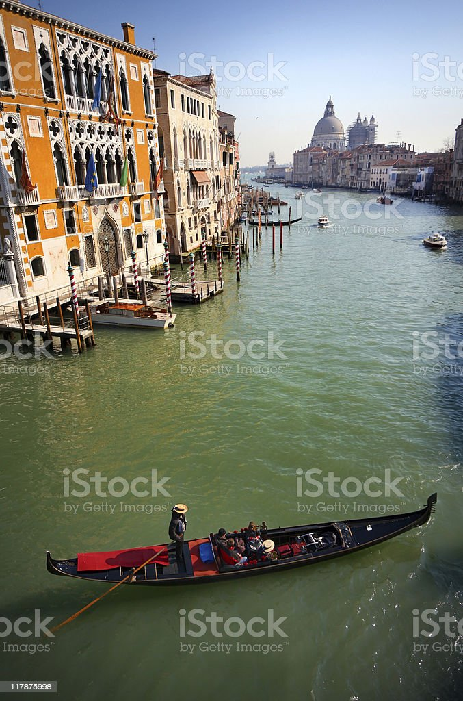 Grand canal and gondola royalty-free stock photo