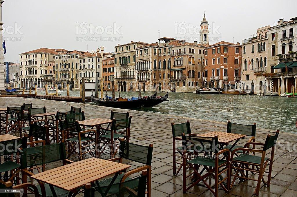 Grand Canal and gondola, Venice Italy royalty-free stock photo