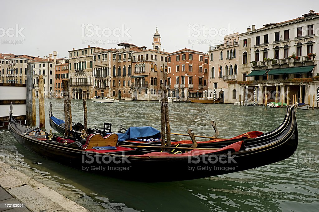 Grand Canal and gondola, Venice Italy royalty-free stock photo