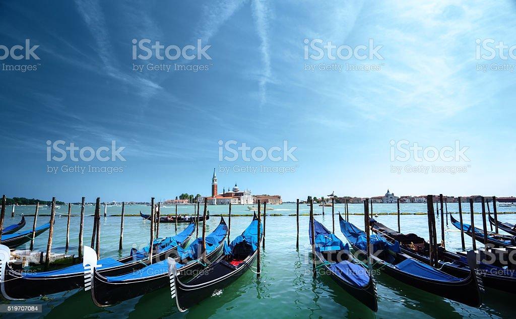 Grand Canal and San Giorgio Maggiore church, Venice stock photo