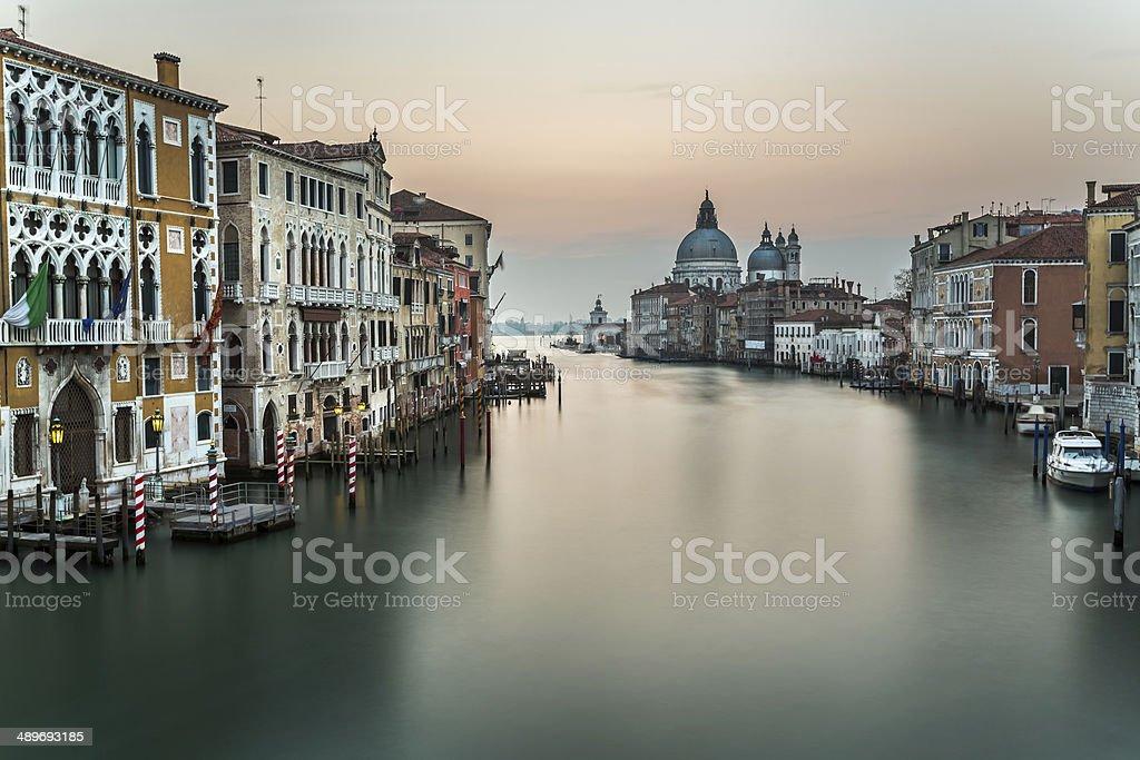 Grand Canal and Santa Maria della Salute Church royalty-free stock photo
