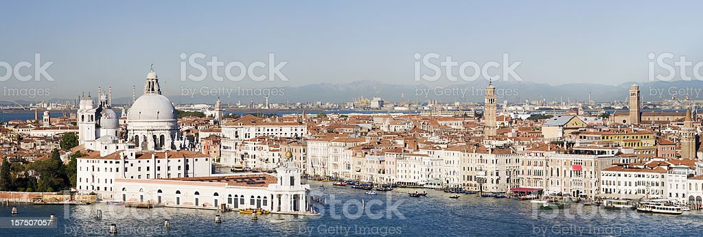 Grand Canal and Santa Maria della Salute Church Venice Italy royalty-free stock photo