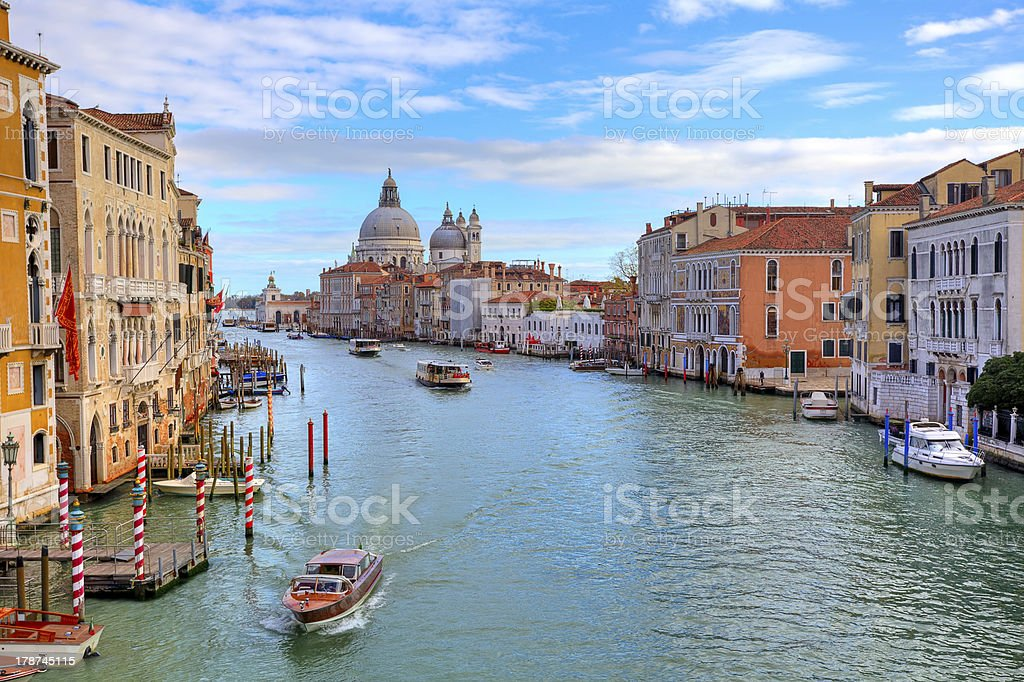 Grand canal and Santa Maria della Salute. stock photo