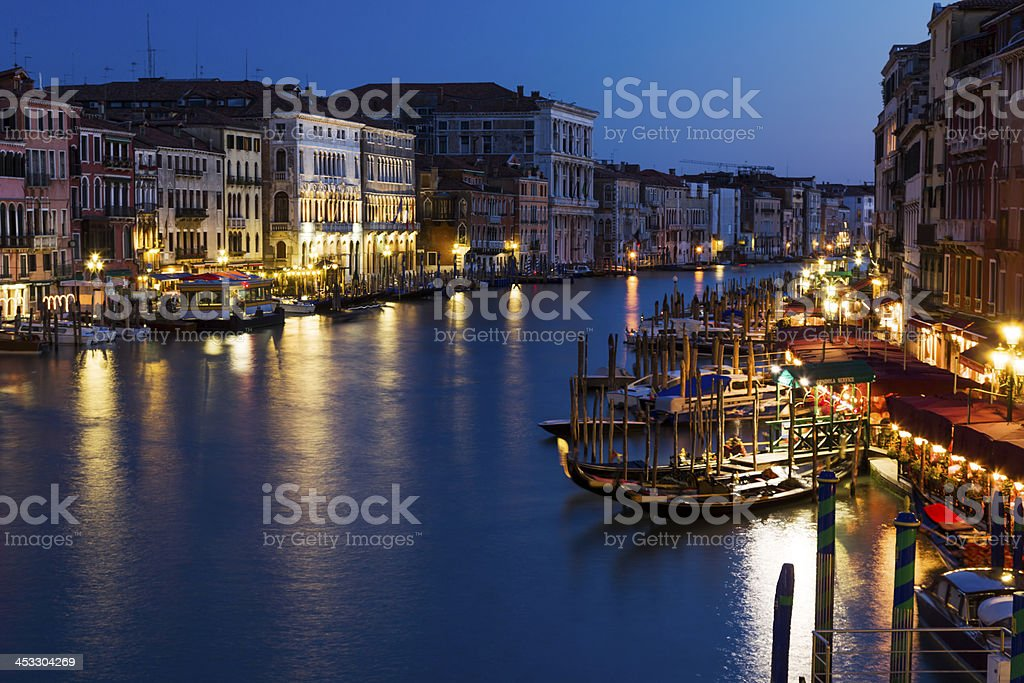 Grand canal at evening royalty-free stock photo