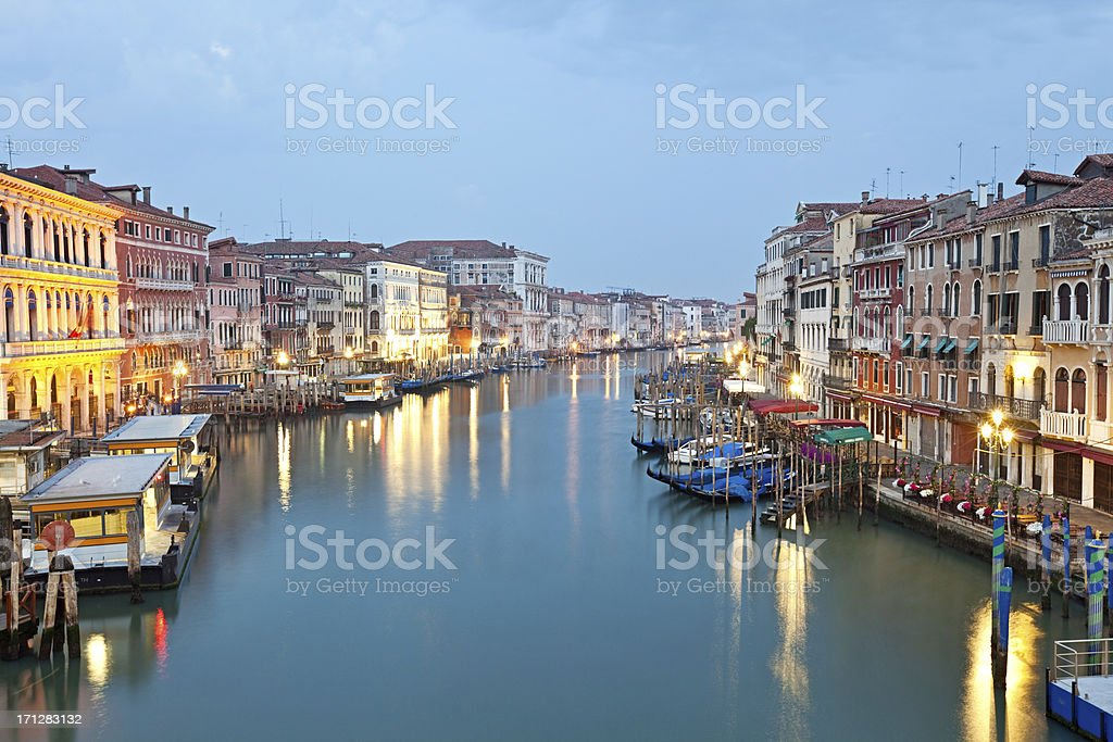 Grand Canal at morning, Venice royalty-free stock photo