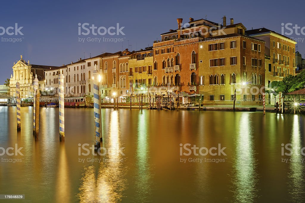Canal Grande di notte royalty-free stock photo