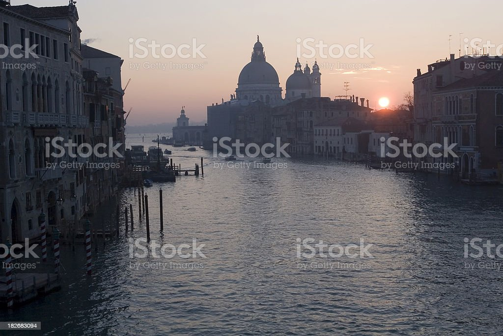 Grand Canal at Sunrise in Venice royalty-free stock photo