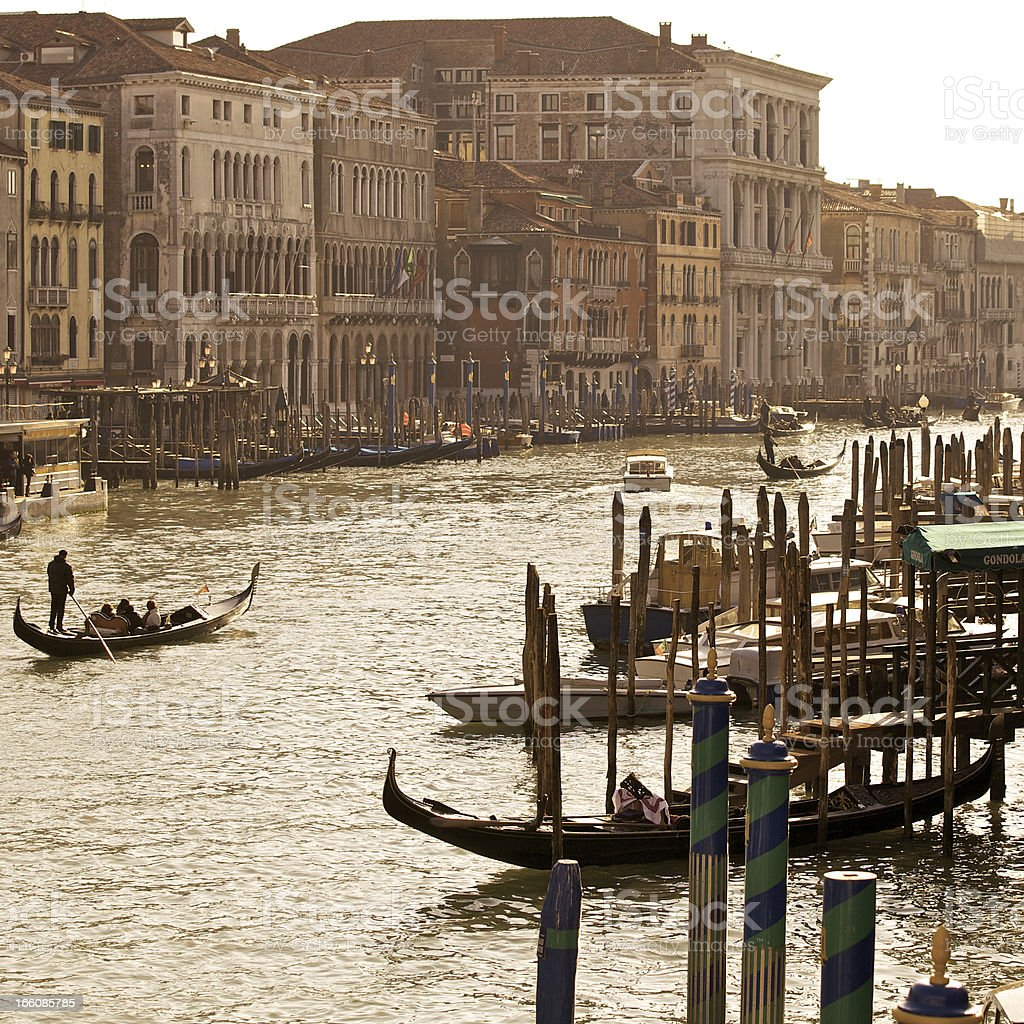 Grand Canal At Sunset royalty-free stock photo