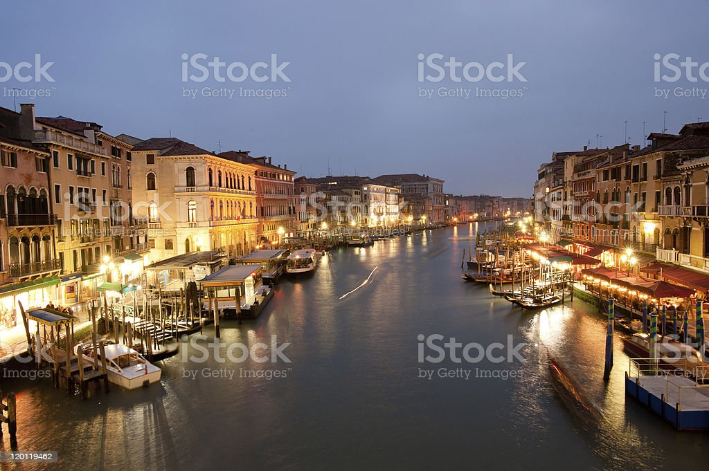 Grand canal at twilight royalty-free stock photo
