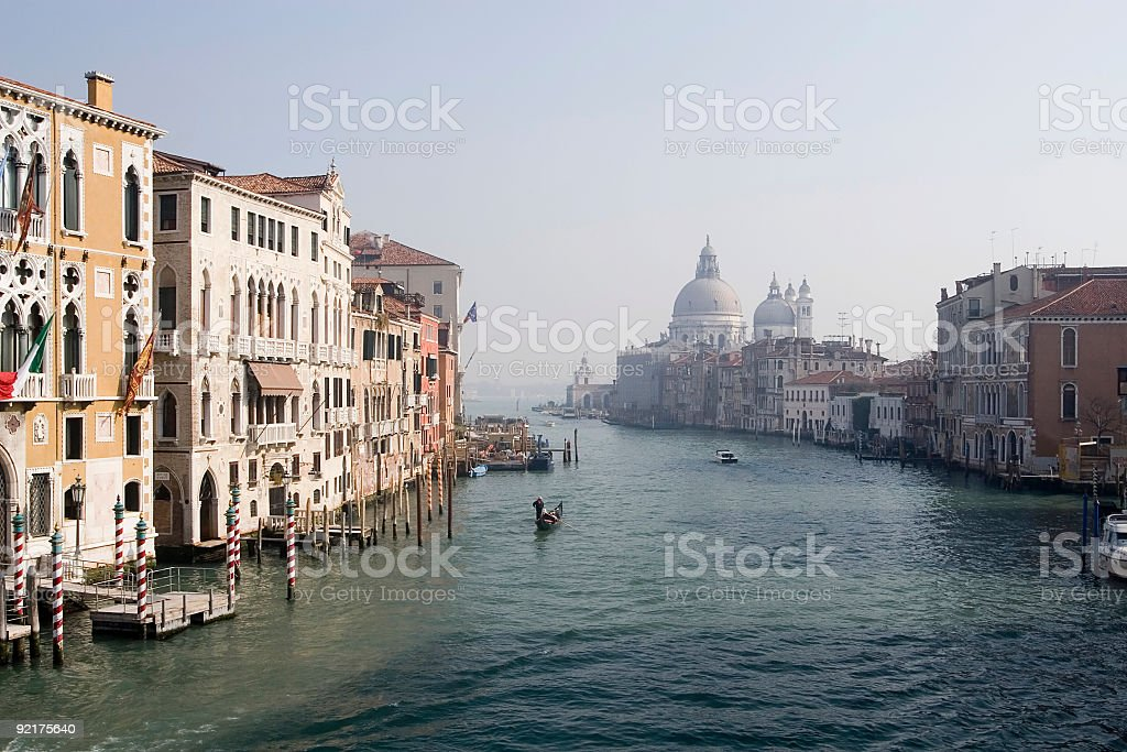 Grand Canal Entrance, Venice stock photo