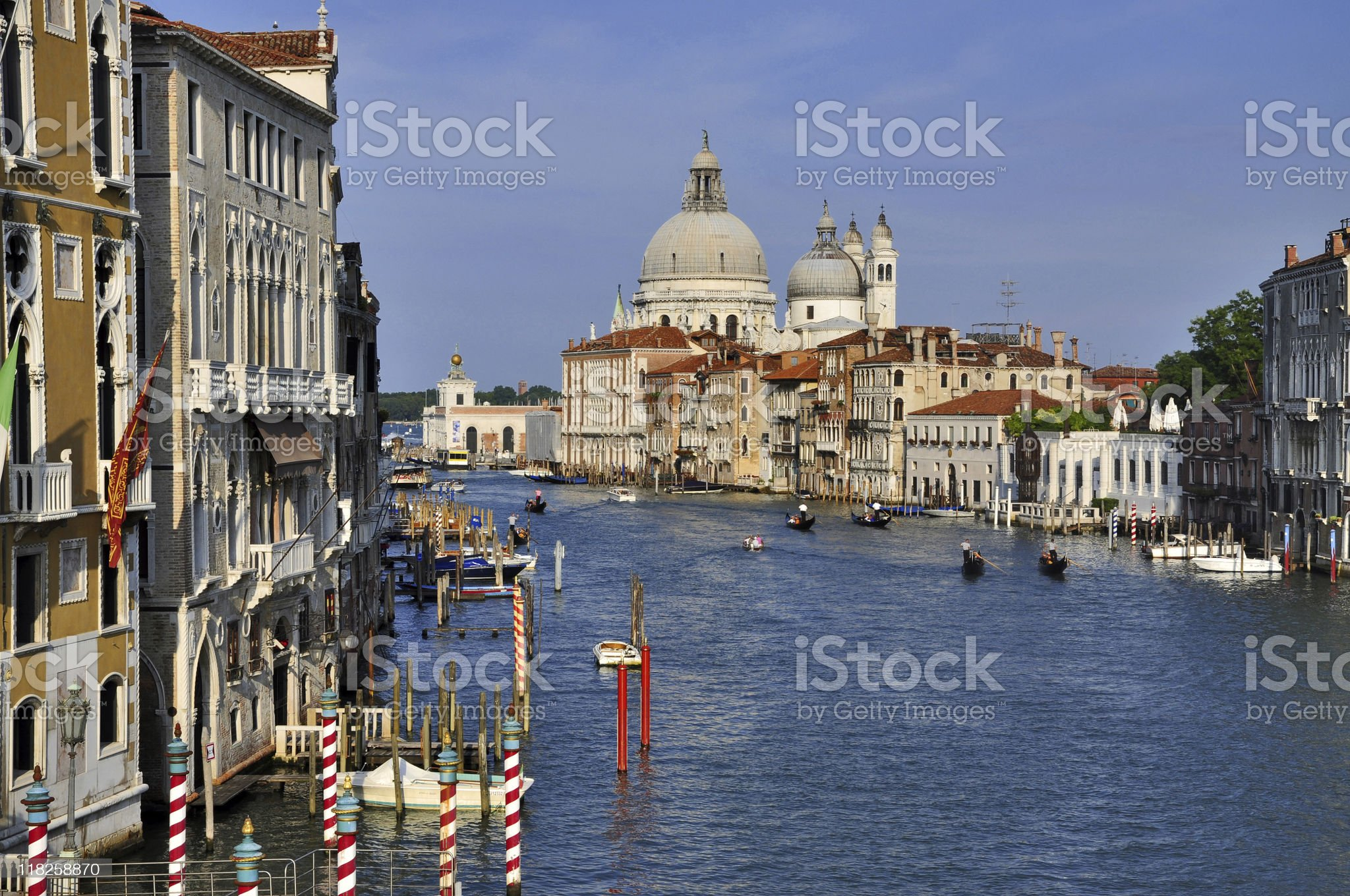 Grand Canal from Accademia Bridge royalty-free stock photo
