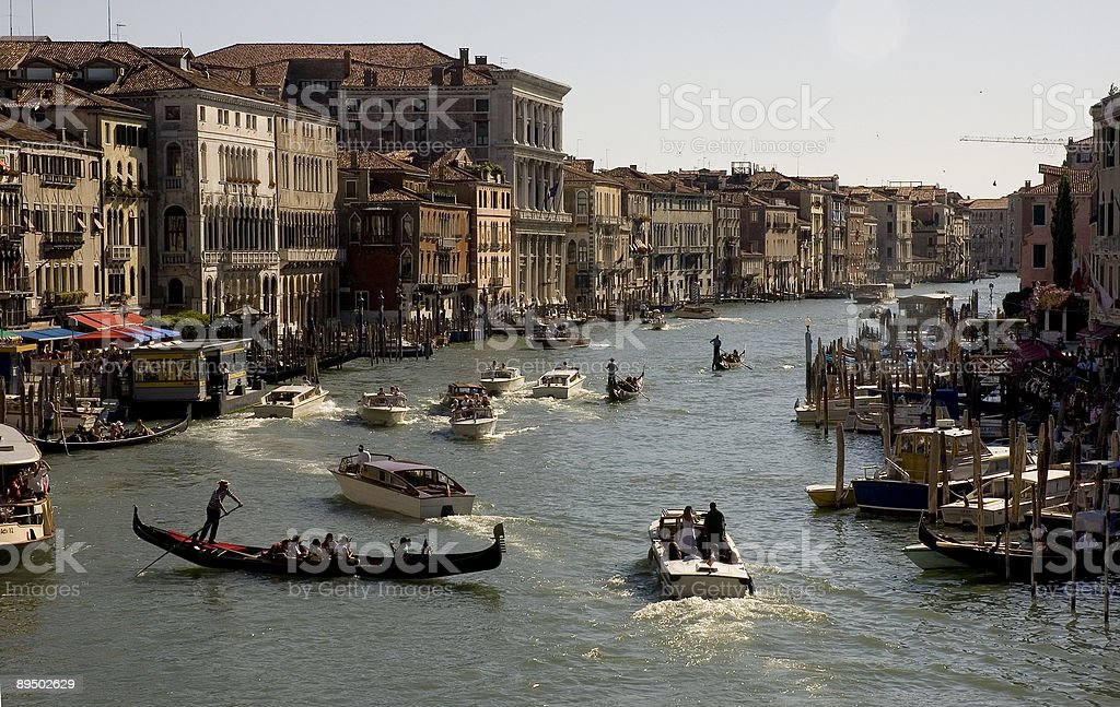 Grand Canal in the evening royalty-free stock photo