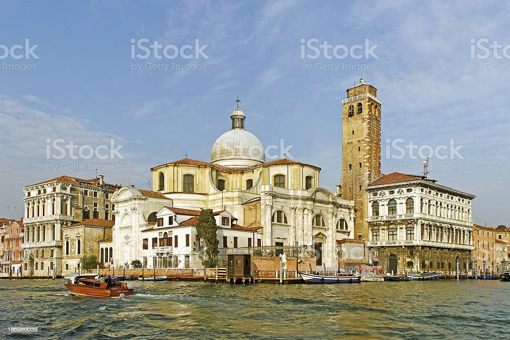 Grand canal in the Venice. royalty-free stock photo