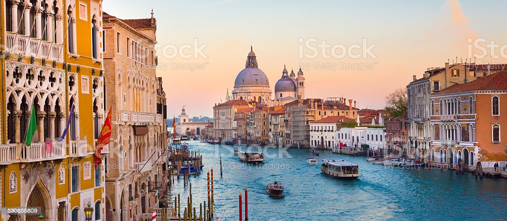 Grand Canal in Venice, Italy. stock photo