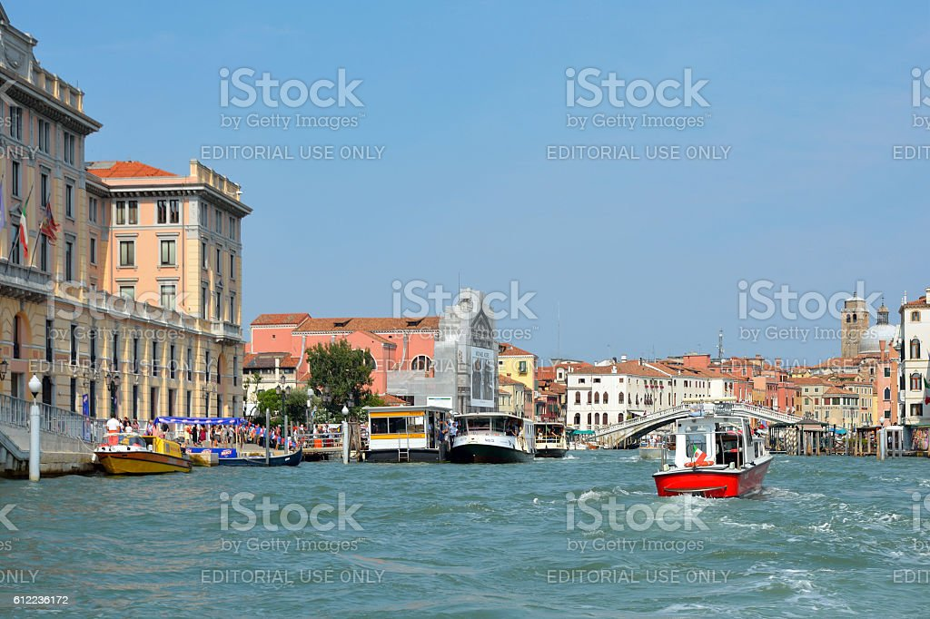Grand Canal in Venice - Italy. stock photo