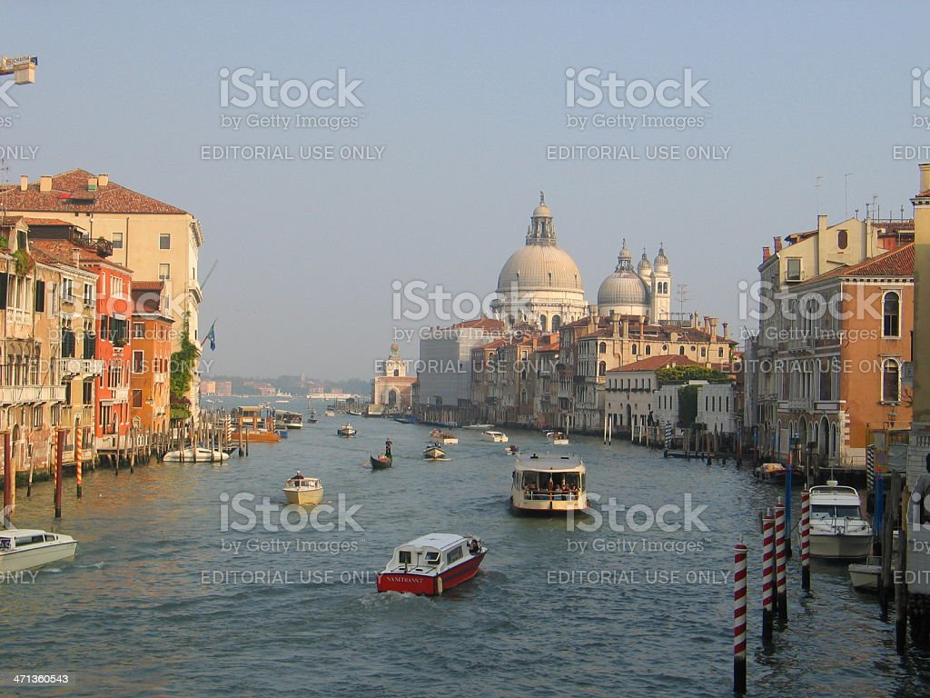 Grand Canal in Venice - October royalty-free stock photo