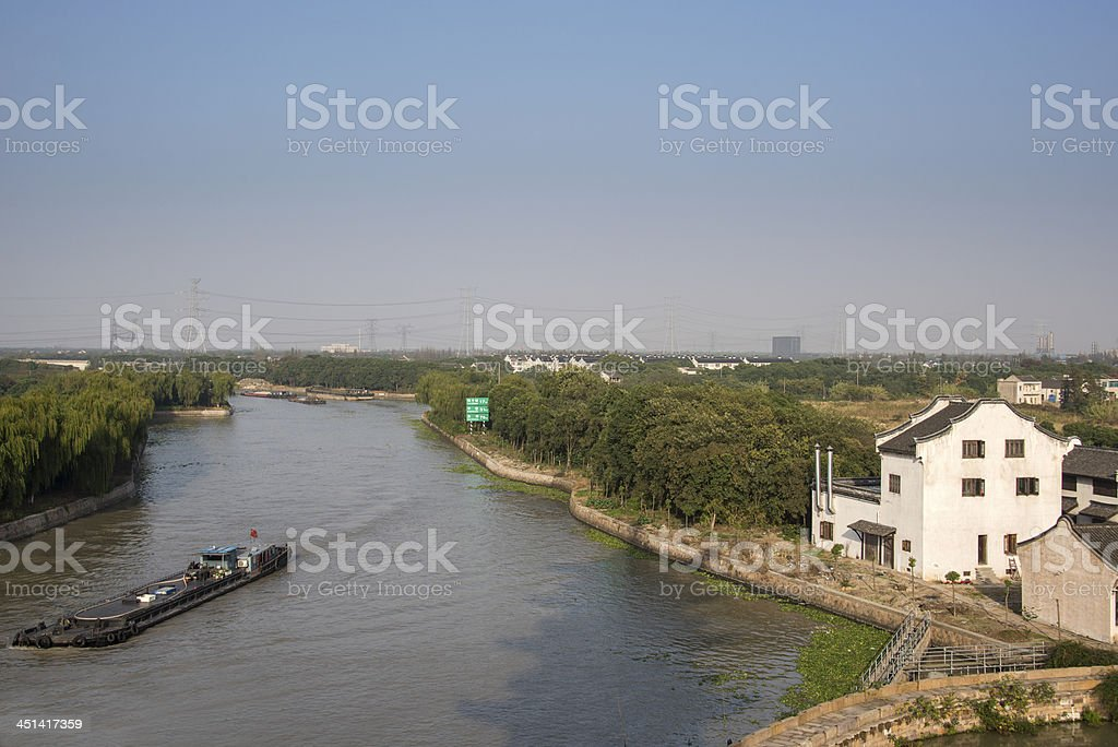 Grand Canal of China stock photo