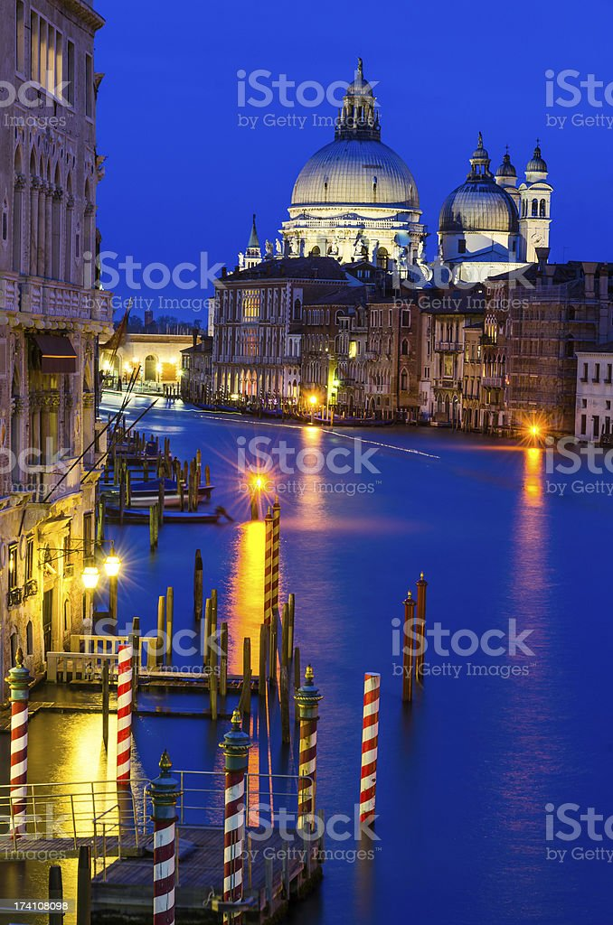 Grand Canal of Venice by night royalty-free stock photo