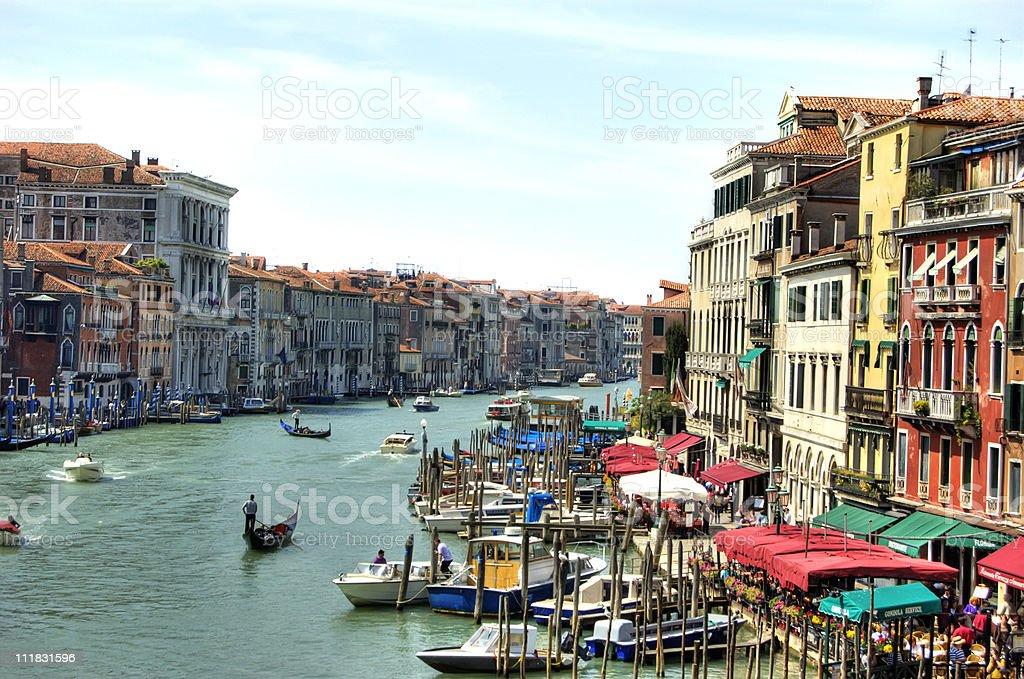 Grand Canal of Venice, Italy stock photo
