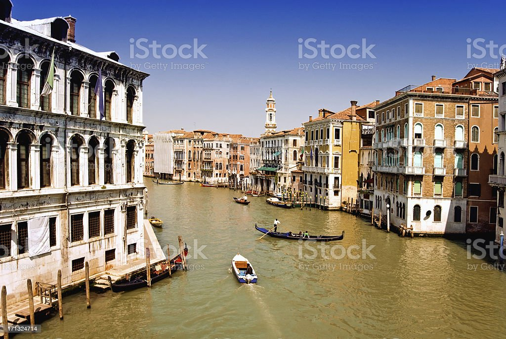 Grand Canal of Venice, Italy royalty-free stock photo