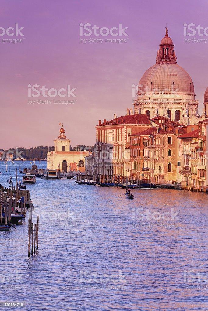 Grand Canal & Santa Maria della Salute royalty-free stock photo