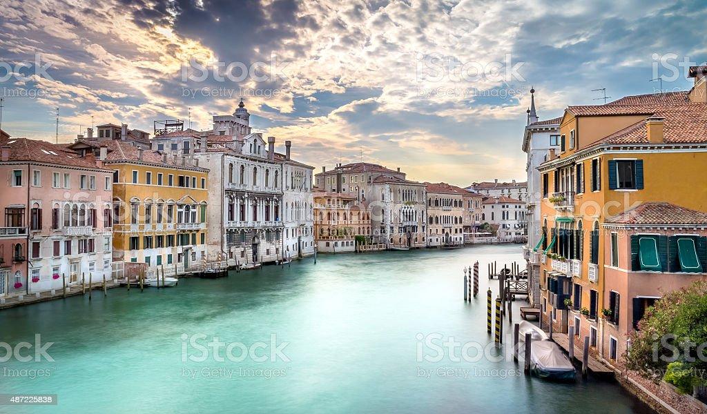 Grand Canal scene, Venice stock photo
