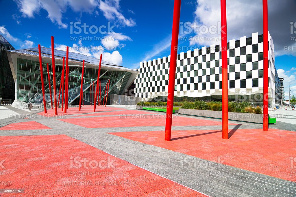 Grand Canal Square stock photo