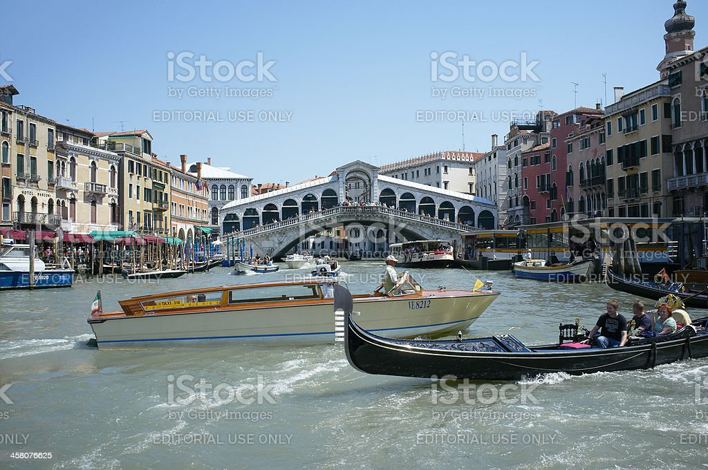 Grand Canal traffic royalty-free stock photo
