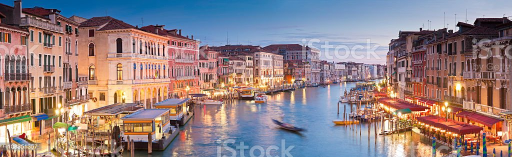 Grand Canal, Venice stock photo