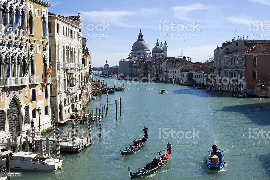Grand Canal View from Accademia Bridge stock photo
