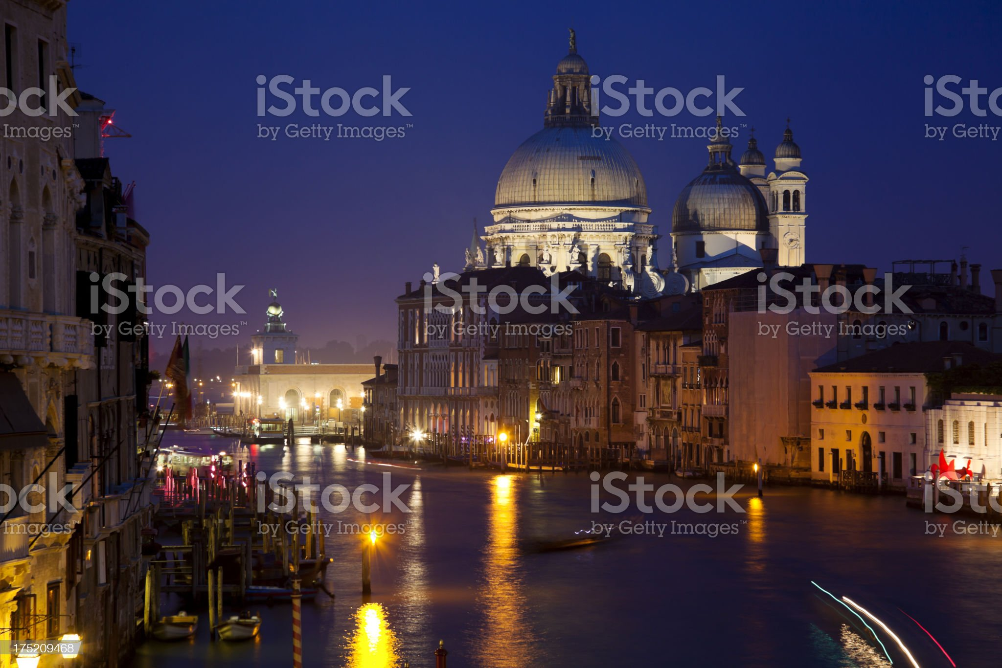 Grand Canal View from Accademia Bridge royalty-free stock photo
