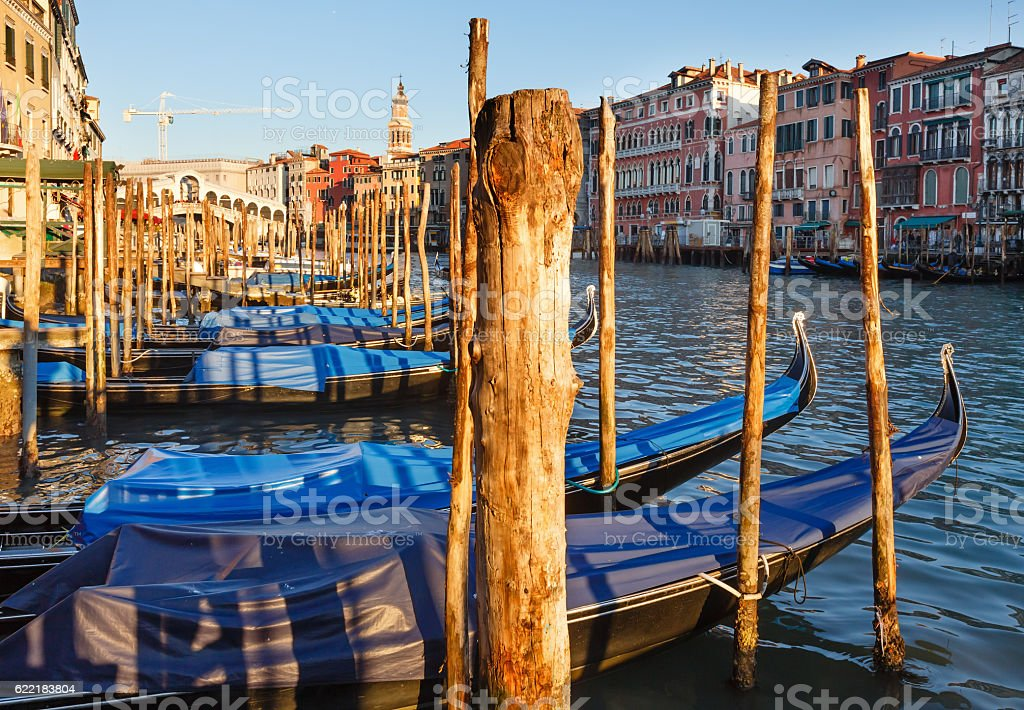 Grand Canal view. Venice, Italy. stock photo